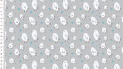 French Terry cute birds 4581